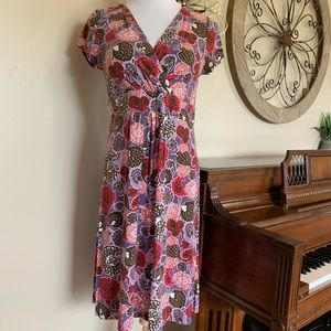 Boden Size 12 Short Sleeve Colorful Dress